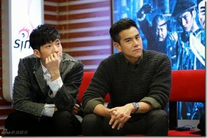 2014.11.18 Eddie Peng during Rise of the Legend - 彭于晏 黃飛鴻之英雄有夢 做客新浪 06