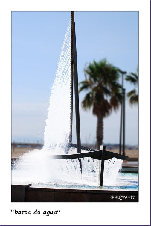 barca de agua - malvarrosa - valencia