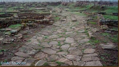 Cara - Calle enlosada de la ciudad romana - Santacara
