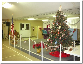 Christmas Eve at the clubhouse