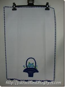 cozinha pano louça cesta azul