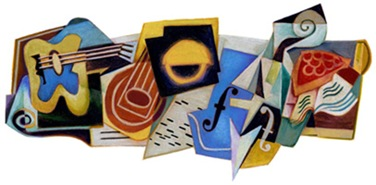 Juan Gris' 125th Birthday - Google Logo