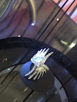 I loved this Phoenix wing diamond ring from Lalique. They also had matching earrings and a bracelet.