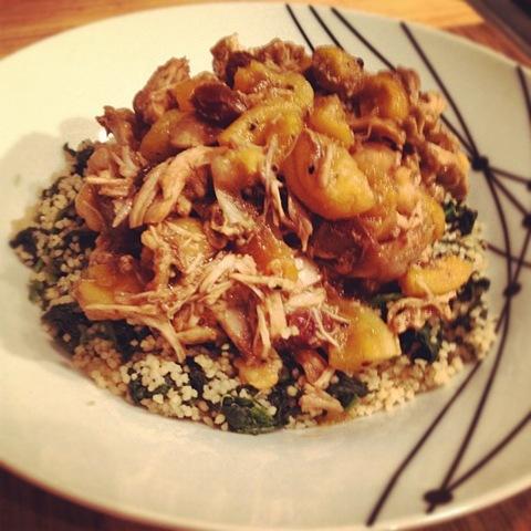 #109 - Moroccan-style chicken, apricot, chickpea and raisin stew