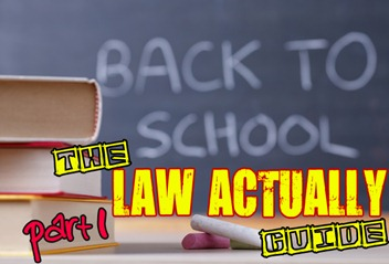 Law Actually - back to school graphic