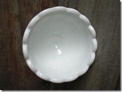 vintage thumbprint milk glass