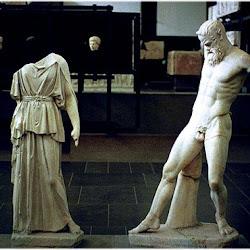 64 - Miron - Reconstruccion del grupo escultorico de Atenea y Marsias