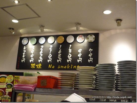 元祖壽司-價目表