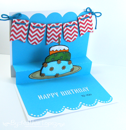 Paper Addictions. Birthday Cake. Ruthie Lopez. My Hobby My Art
