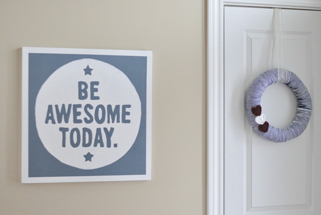 Valetine's Wreath Crochet Hearts Be Awesome Today Sign