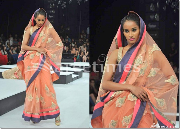 Shantanu_Nikhil_Orange_Saree
