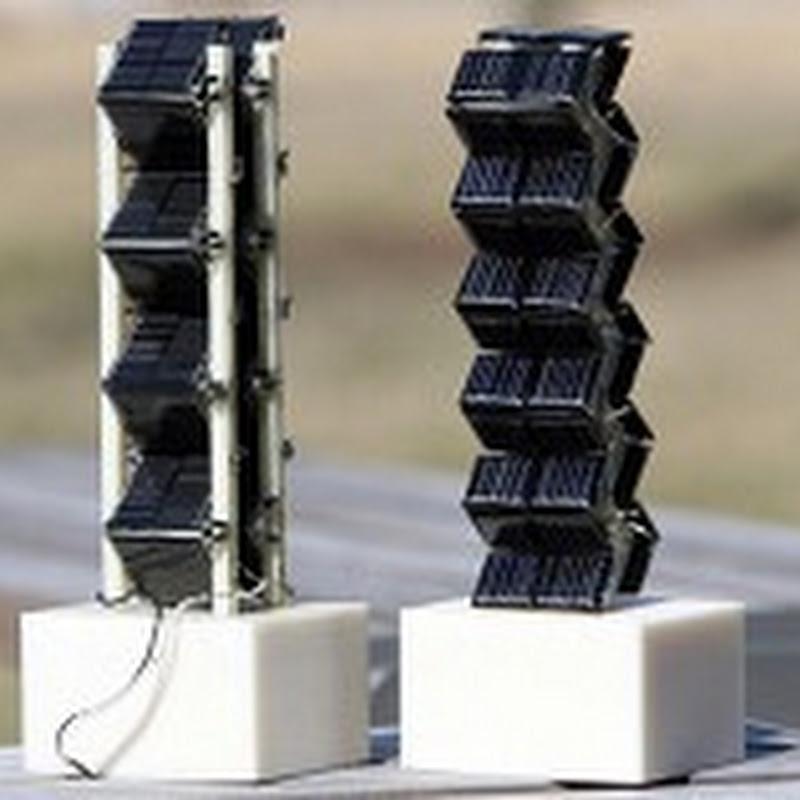 Paneles solares tridimensionales