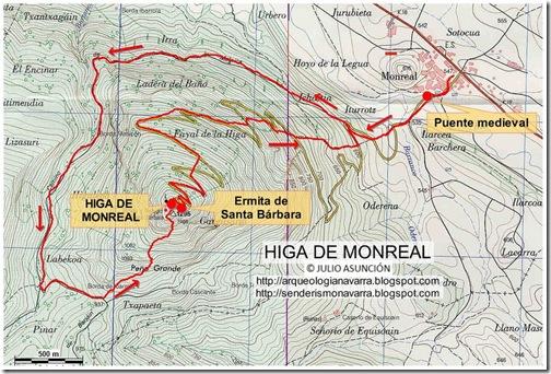 Mapa Higa de Monreal