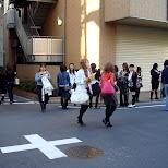 japanese girls in shinjuku in Shinjuku, Tokyo, Japan