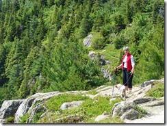 Lou n Tanzy Hiking over rock 1