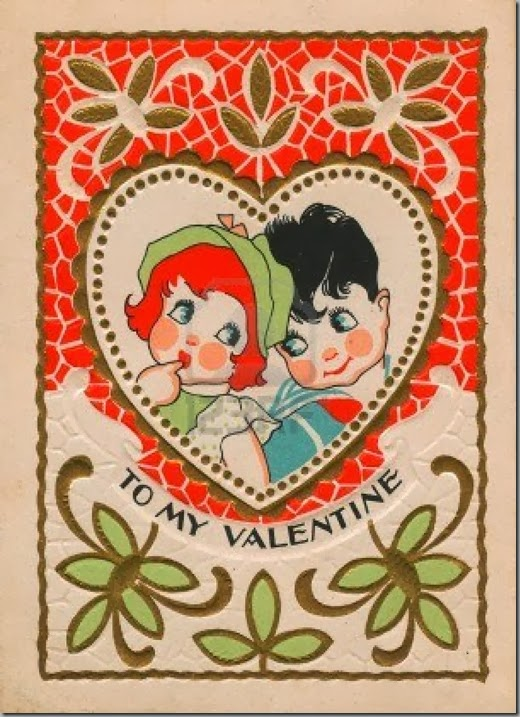 14916490-a-vintage-valentine-with-a-boy-and-girl