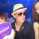 making new friends at Club Camelot in Shibuya in Shibuya, Tokyo, Japan