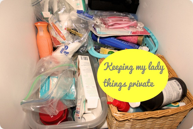 bathroom organization shelf clutter