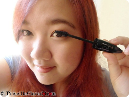 Priscilla peachy makeup look Lancome Hypnose Star mascara