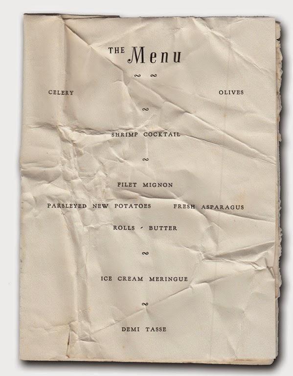 menu 1949