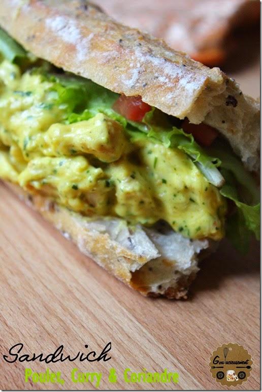Sandwich Poulet, Curry et Coriandre 4