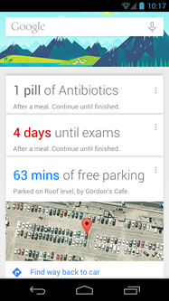 Android wishlist #5: Example images of Google Now API