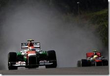 Sutil precede Perez nel gran premio della Malesia 2013