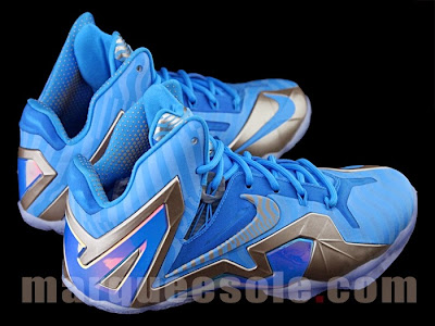 nike lebron 11 ps elite blue 3m 1 05 Nike LeBron 11 Elite Blue Stripe 3M