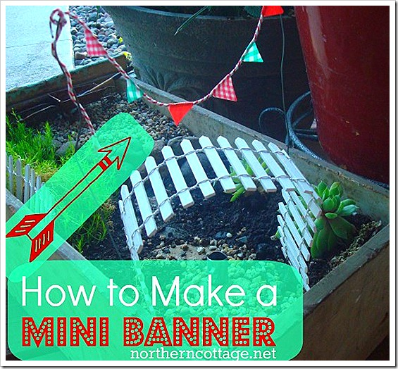 how to make a mini banner