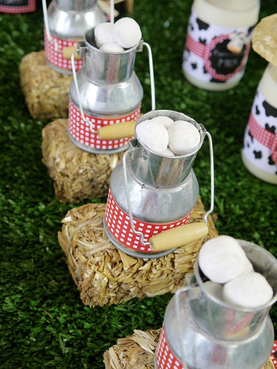 Barnyard Birthday - Mini Milk Churns