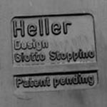 Stoppino record album/LP/storage rack for Heller, black imprint