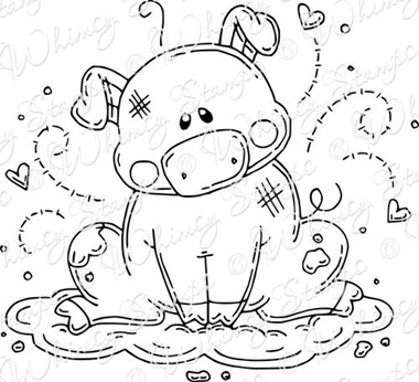 piggy bath rubber