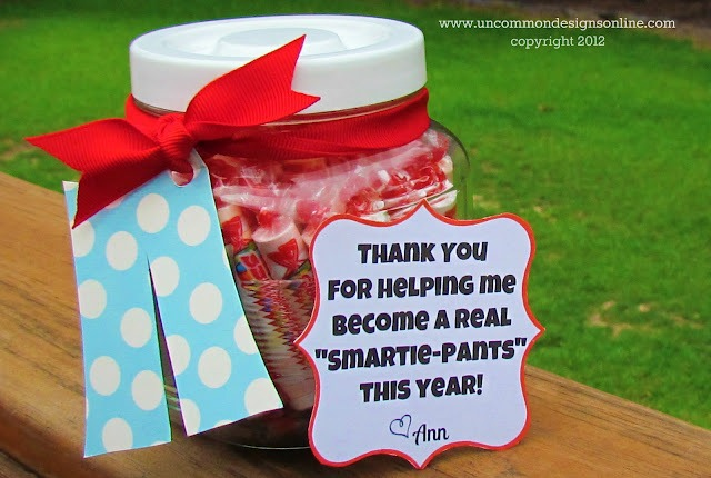 smartie pants teacher gift