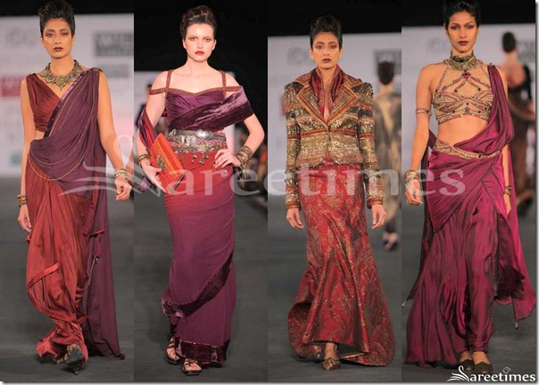 Maroon_Designer_Sarees