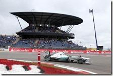 Hamilton nelle prove libere del gran premio di Germanai 2013