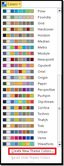 PowerPoint - Colors
