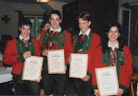 ein paar Jahre zurück - Thomas Pitterle, Leopold Obbrugger, Thomas Told, Carmen Schett.JPG
