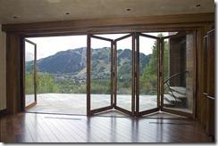 Bronze Clad Bi Folding Door
