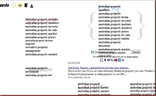 soovle bing  australian property market