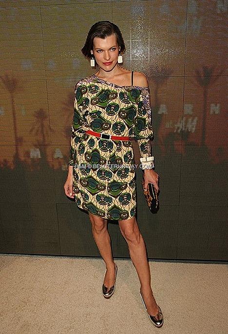 MARNI H&M USA CONSUELO COPPOLA  MILA JOVOVICH  HOLLYWOOD SPRING 2012 MEN & WOMEN COLLECTION