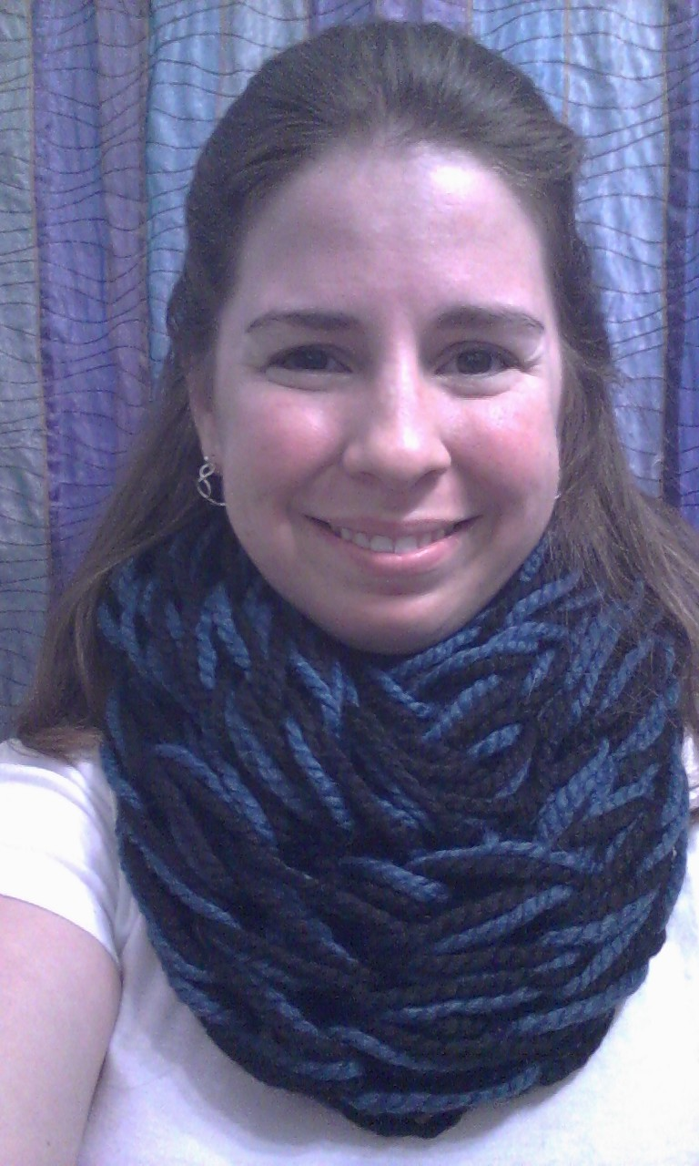 ChemKnits: Arm Knit Cowl - Finished in Under 1 Hour!