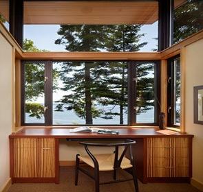 diseño interior escritorio Residencia Port Ludlow