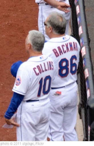 'Terry Collins and Wally Backman During National Anthem' photo (c) 2011, slgckgc - license: http://creativecommons.org/licenses/by/2.0/
