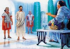 Jesus diante de Pilatos 1