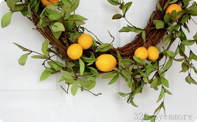 lemon wreath -- 320 sycamore