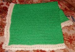 10 sparkly grn crm newborn blanket