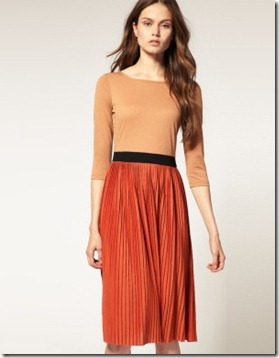 pleated midi dress2