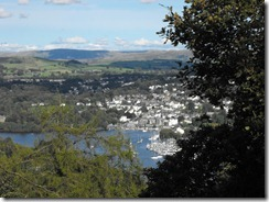 Hill top walk--perhaps Bowness from across the lake