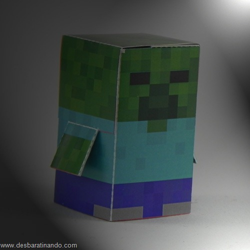Paper Toys minecraft zombie