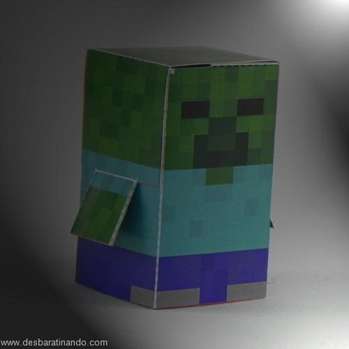 Paper Toys minecraft zombie